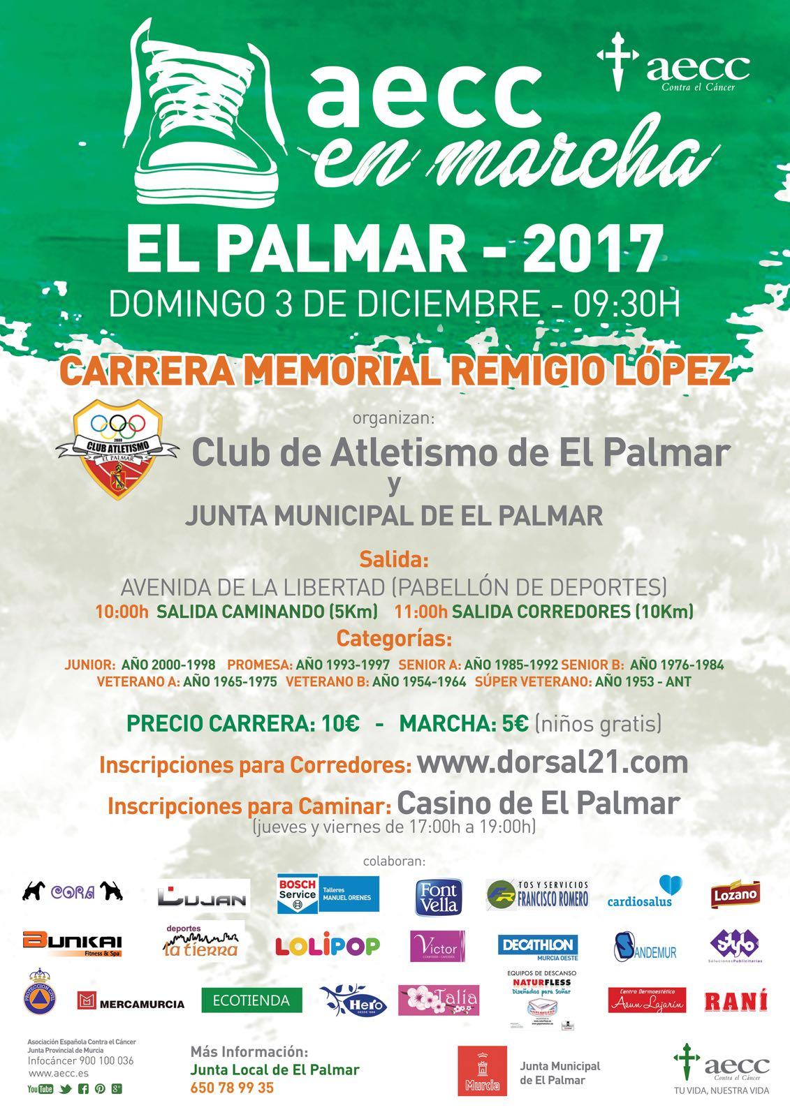 Naturfless en la AECC en marcha El Palmar 2017
