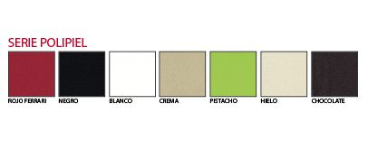 Gama de colores Serie Polipiel